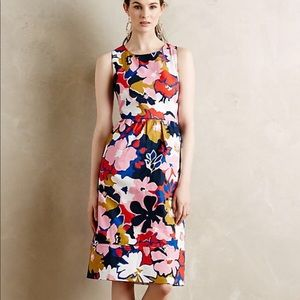 Anthro Whit Two Petalprint floral midi dress 2